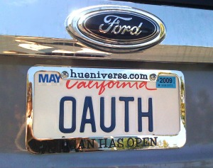 OAuth License Plate
